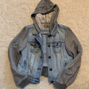 American Eagle Jean & Grey Jersey Jacket